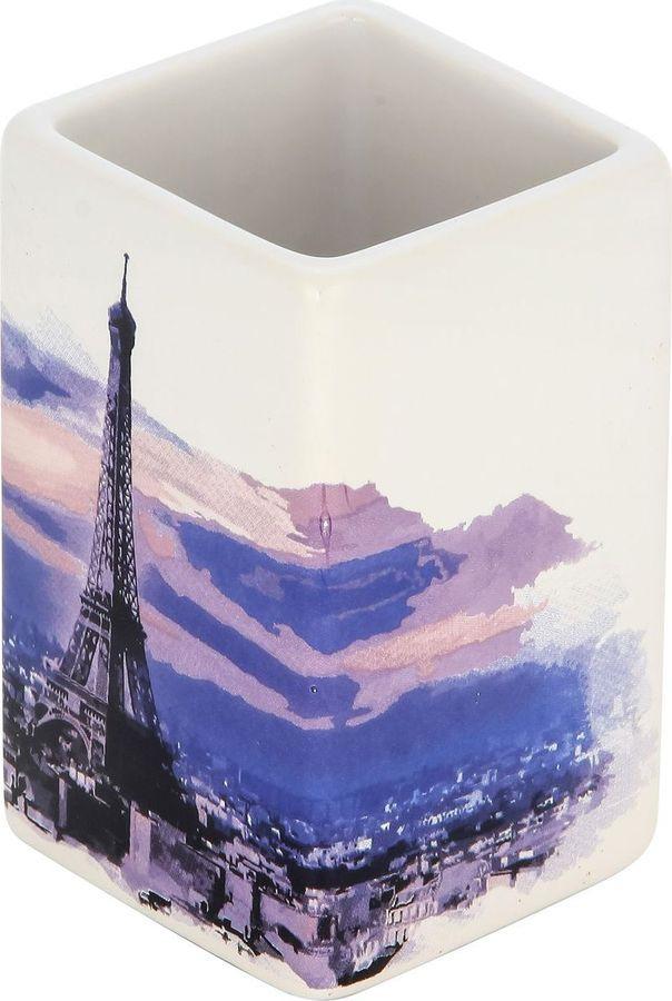 Стакан для ванной комнаты Рыжий кот Париж, 2906, мультиколор, 10,2 х 6,3 х 6,3 см цены