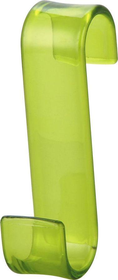 Крючок для ванной Рыжий кот, навесной, на дверь, 4722, зеленый, 5 х 17,2 х 5,4 см для ванной дверь