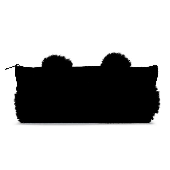 Пенал Феникс+ 4873048730Пенал школьный арт.48730/24 ЧЕРНЫЙ (без наполнения, 21x8x3.5, одно отделение, хлопчатобумажная ткань, подкладка, молния, ПВХ упаковка)