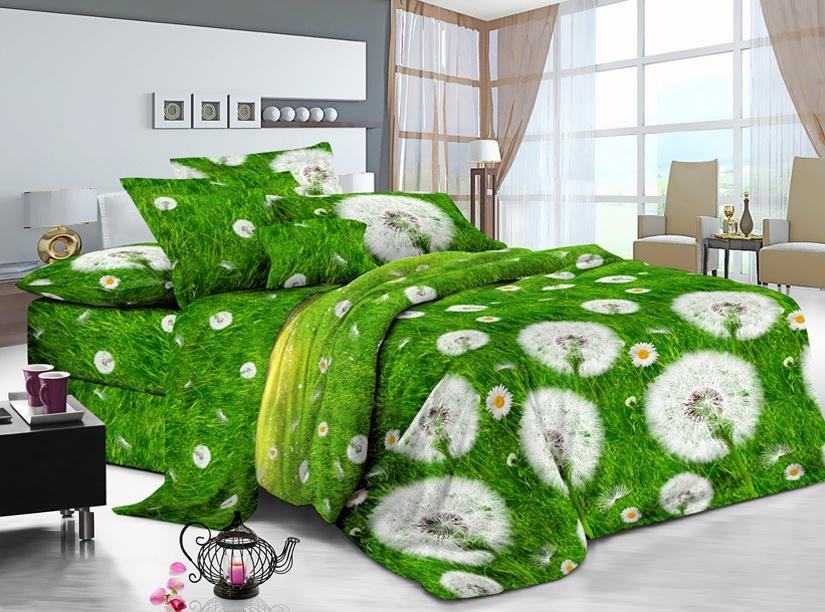 цена Комплект постельного белья ИМАТЕКС IM0373-2е-70х70, зеленый, светло-серый, желтый онлайн в 2017 году