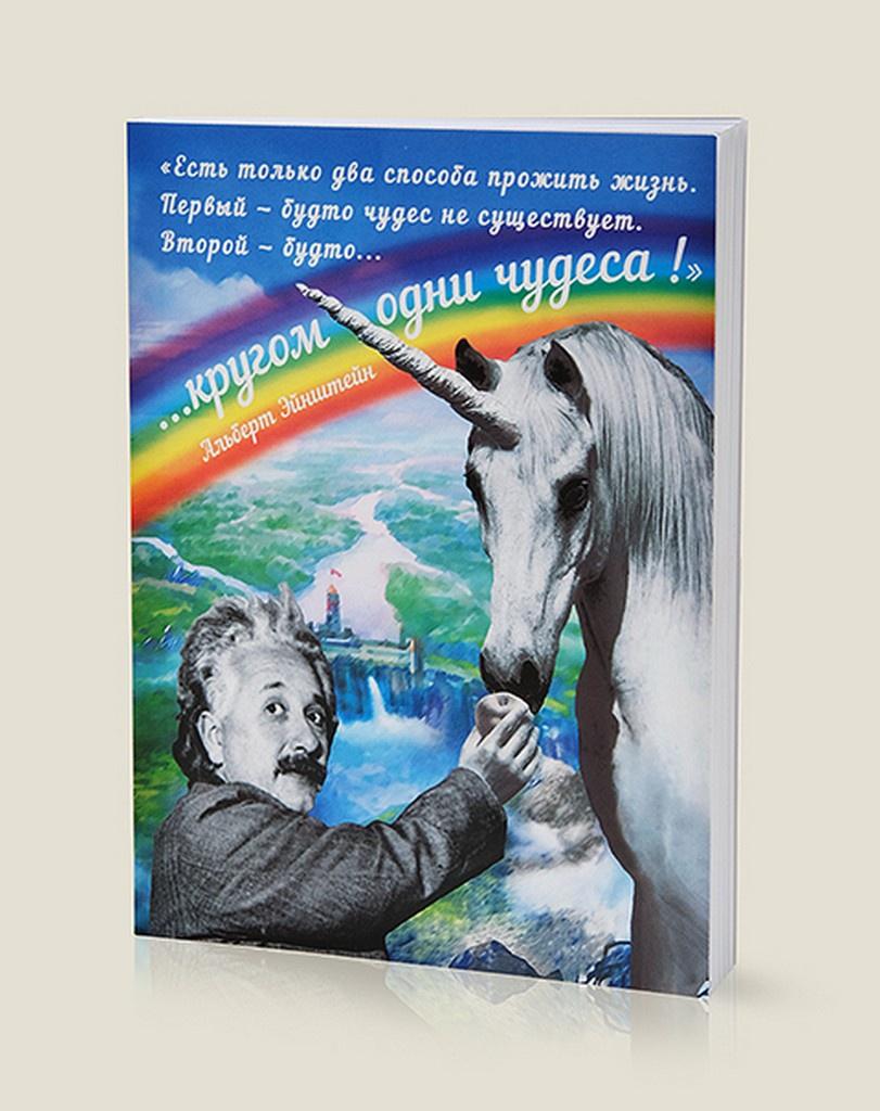 Блокнот Бюро находок Эйнштейн Кругом одни чудеса, 50 бюро находок блокнот оригами розовый слон 40 листов