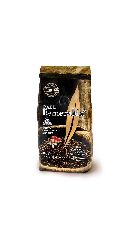 Кофе молотый Cafe Esmeralda 232512, 250 florentini city cafe
