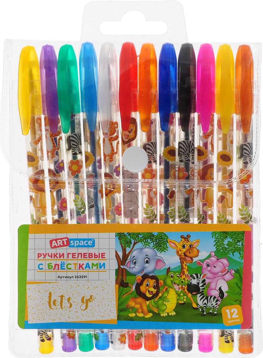 Набор гелевых ручек ArtSpace Зверята, 263291, 12 цветов набор гелевых ручек с 20 3цв 0 5мм