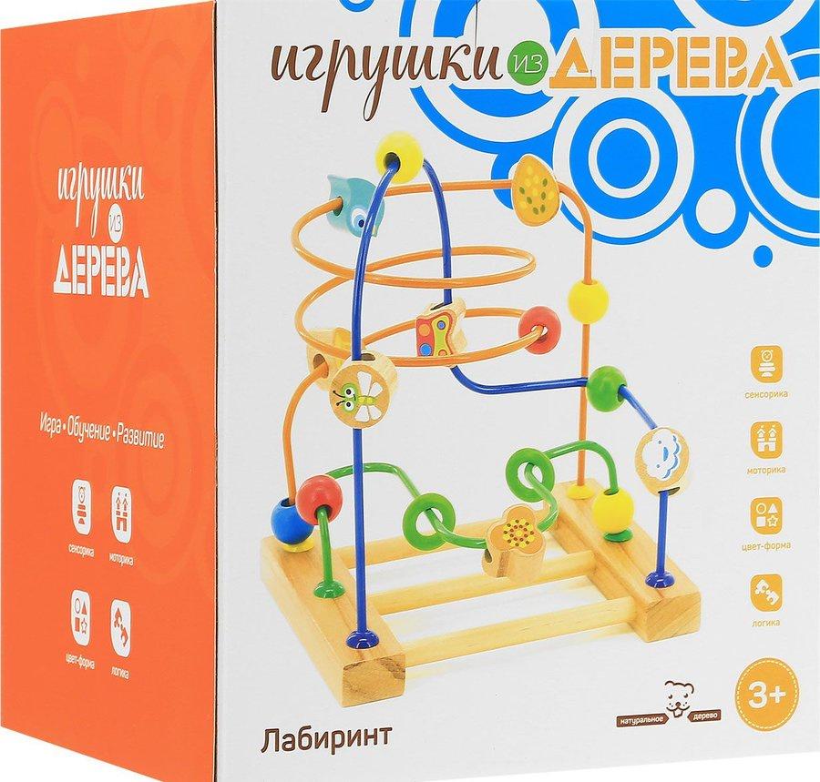 Фото - Развивающая игрушка Мир деревянных игрушек Лабиринт № 3 большой бежевый мир деревянных игрушек развивающая игрушка стучалка шарик и гвоздики