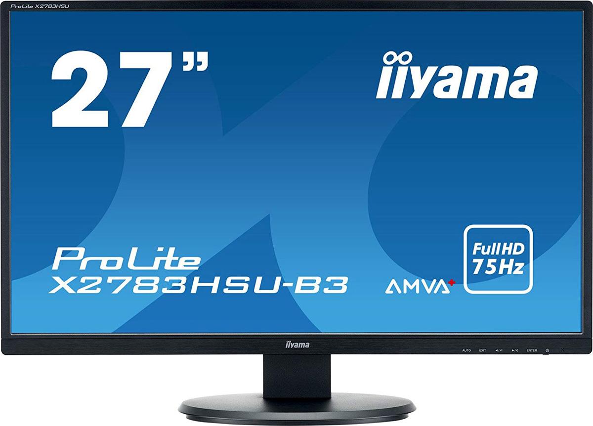 """Монитор Iiyama 27"""" ProLite X2783HSU-B3, черный"""