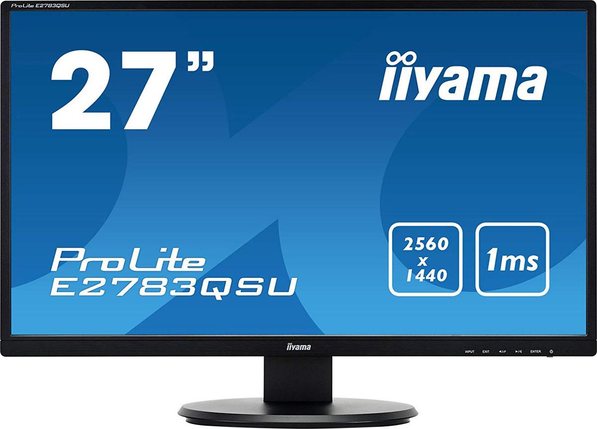 """Монитор Iiyama 27"""" ProLite E2783QSU-B1, черный"""