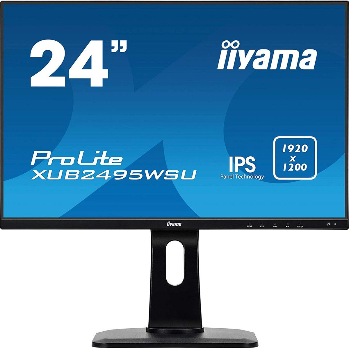Монитор Iiyama 24.1 ProLite XUB2495WSU-B1, черный монитор iiyama xub2495wsu b1