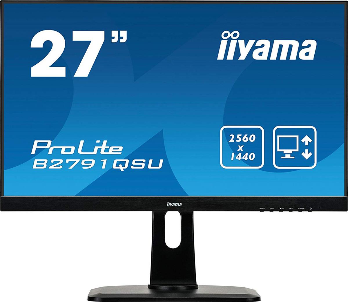 Монитор Iiyama 27 ProLite B2791QSU-B1, черный монитор iiyama prolite b2791qsu b1