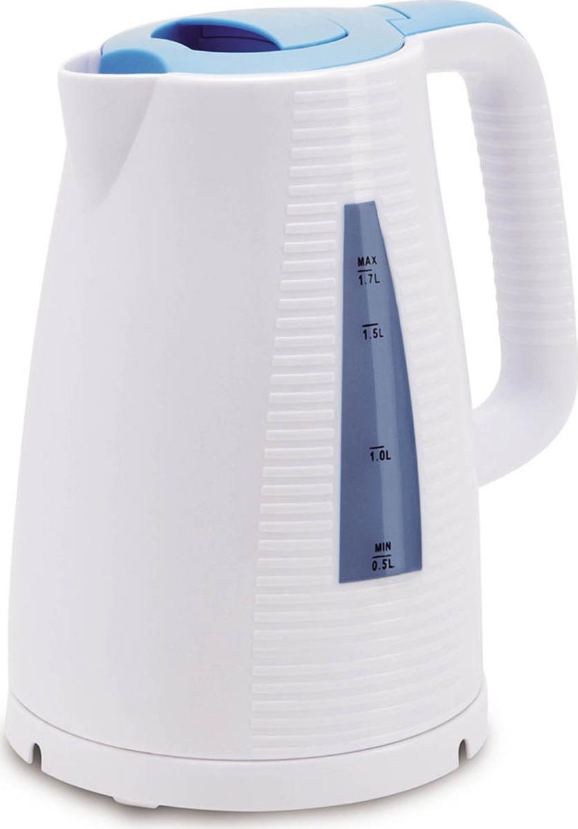 Чайник электрический Polaris PWK 1743C, голубой, белый, 1,7 л, 2200 Вт