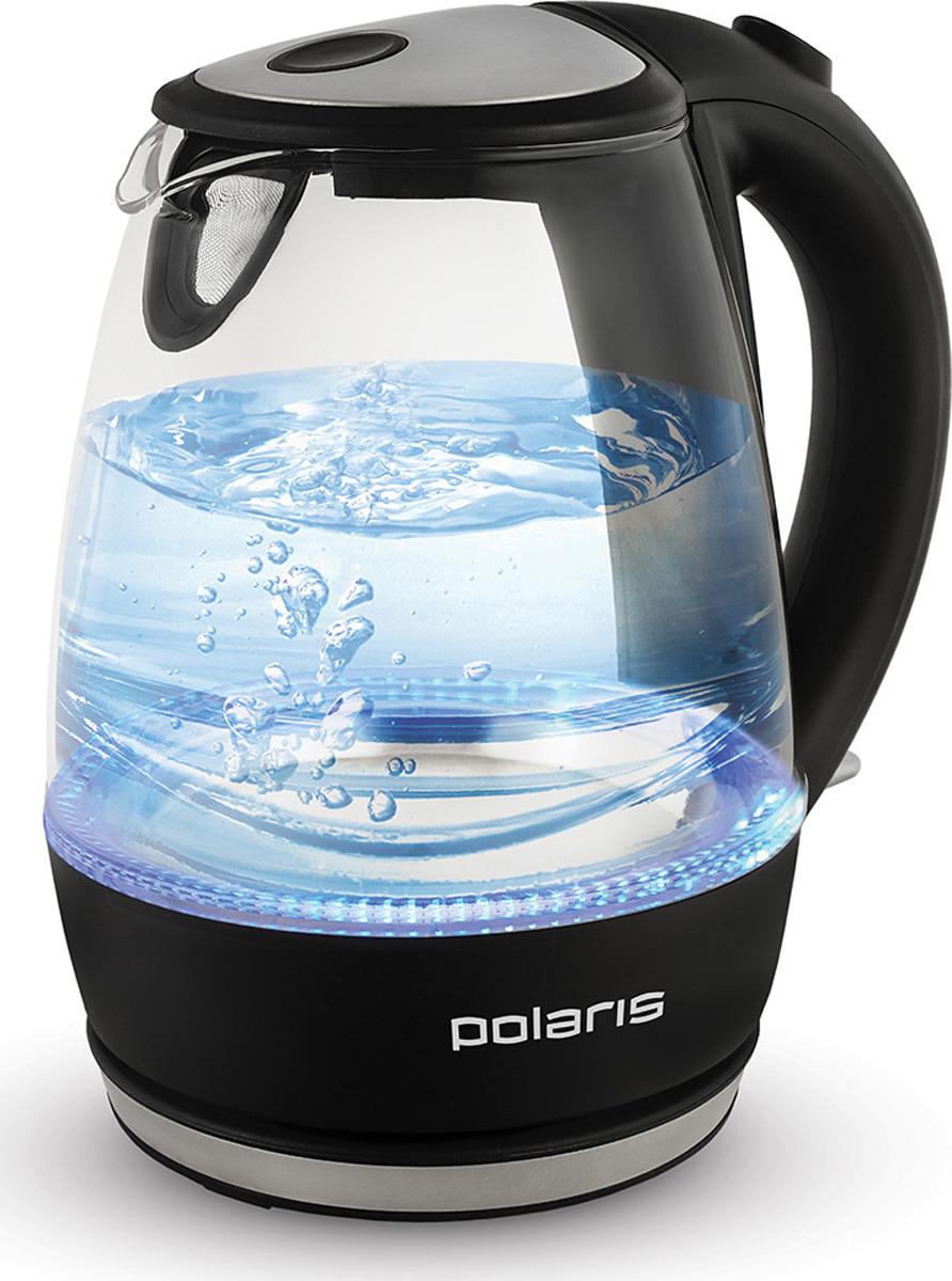 Чайник электрический Polaris PWK 1076CGL, 1 л, черный, 2200 Вт чайник электрический supra kes 1839w черный 1 8 л 2200 вт