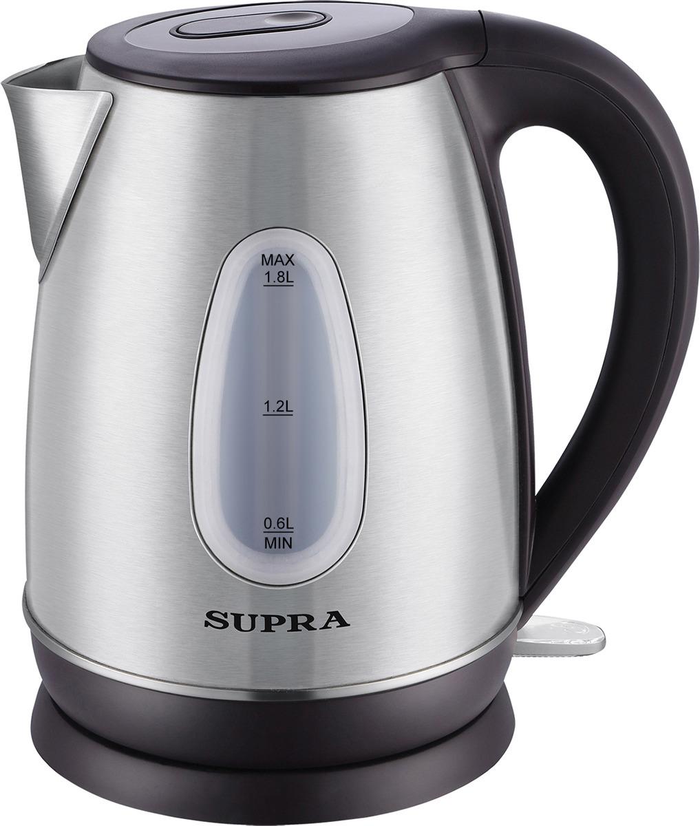 Чайник электрический Supra KES-1839W, черный, 1,8 л, 2200 Вт чайник электрический supra kes 1839w черный 1 8 л 2200 вт