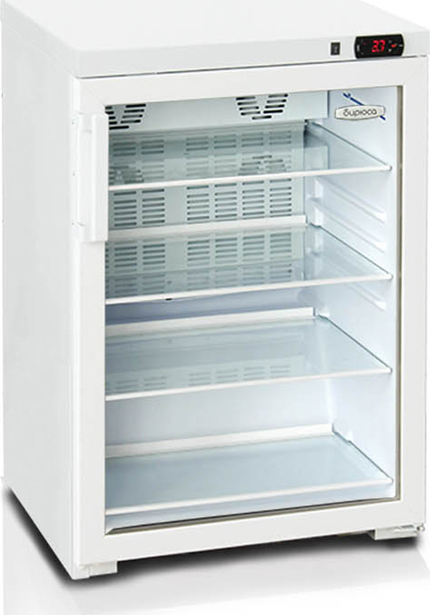 лучшая цена Холодильная витрина Бирюса Б-154DN, однокамерная, белый
