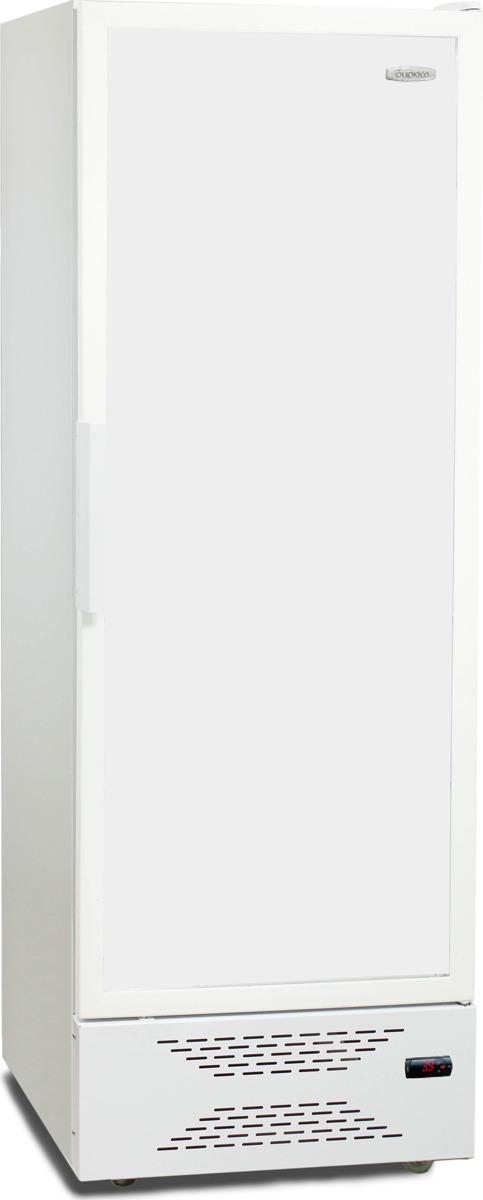 лучшая цена Холодильная витрина Бирюса Б-460DNKQ, однокамерная, белый