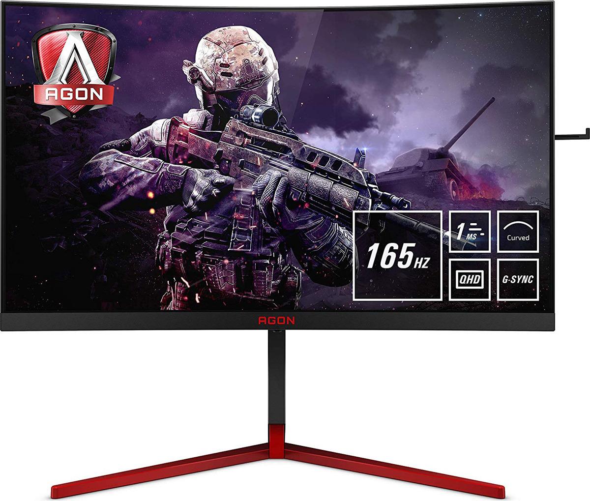 Монитор AOC Gaming, 27, AG273QCG, черный монитор aoc gaming g2790px 27 черный красный и черный