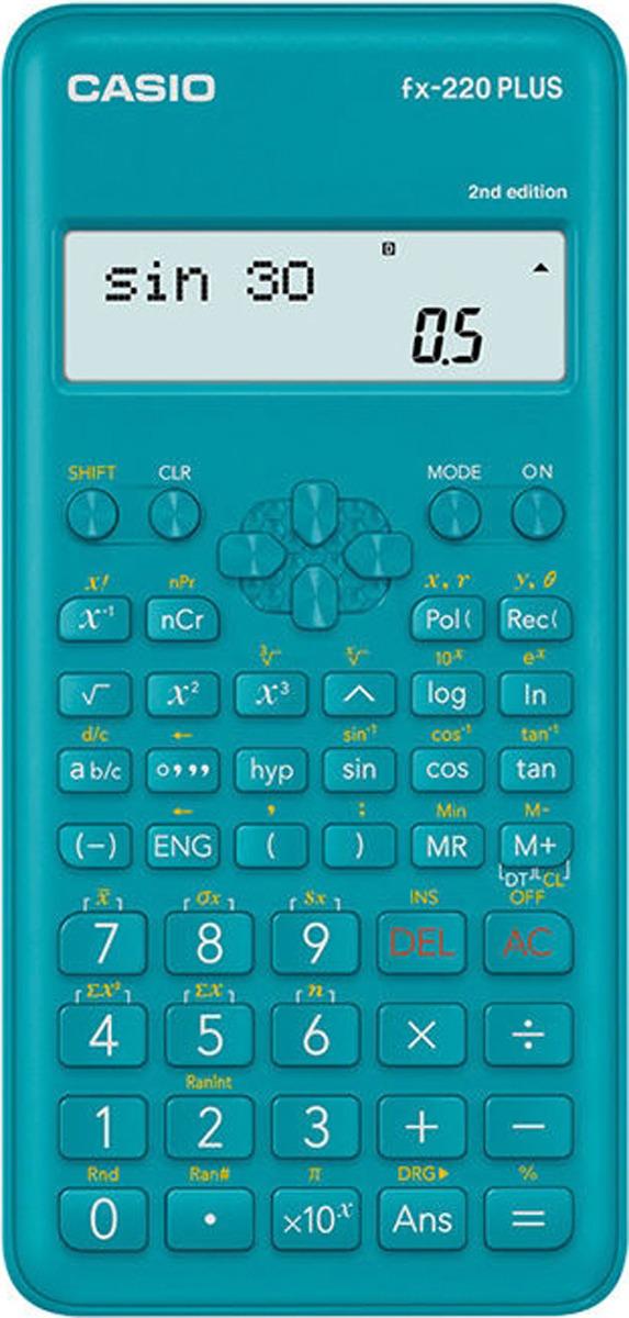 Калькулятор научный Casio, синий, FX-220PLUS-2 калькулятор casio fx 991es plus