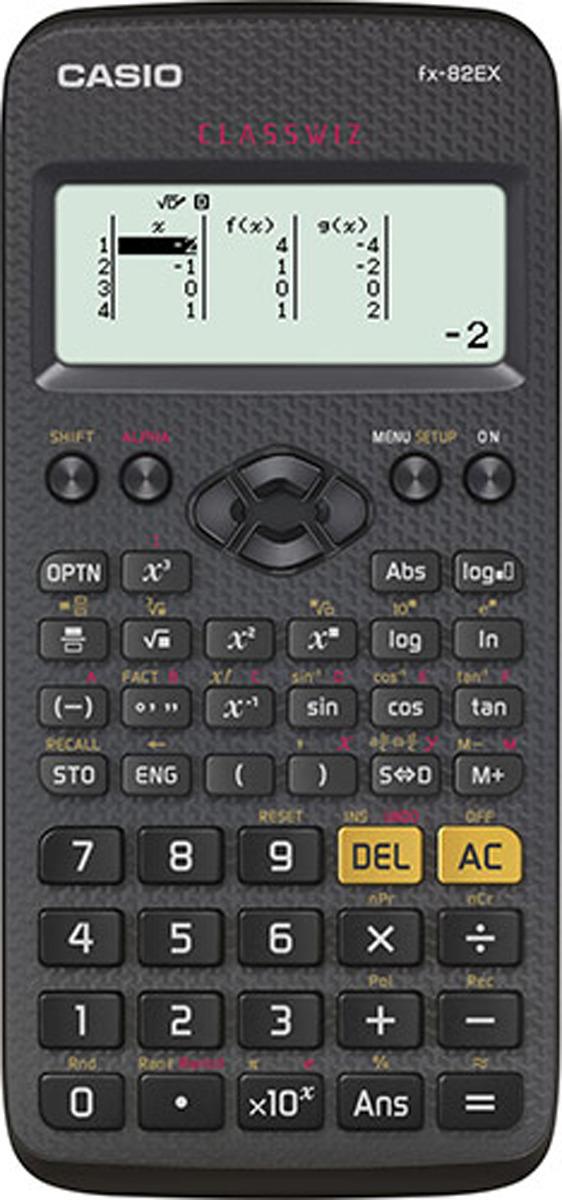 Калькулятор научный Casio Classwiz, черный, FX-82EX-S-ET-V калькулятор casio fx 991es plus