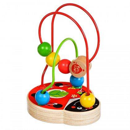 Развивающая игрушка Мир деревянных игрушек Развивающий Лабиринт Божья коровка бежевый