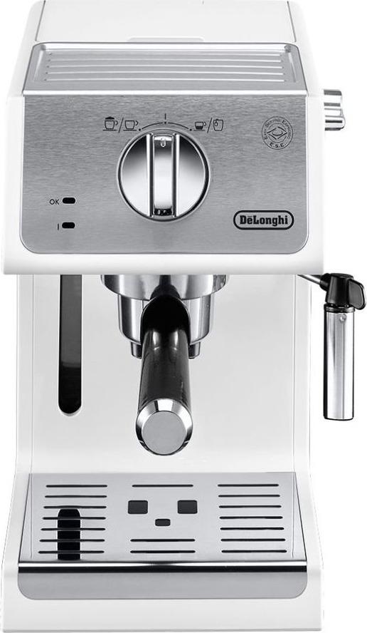 Кофеварка рожковая эспрессо Delonghi ECP33.21.W, 132104183, белый цена