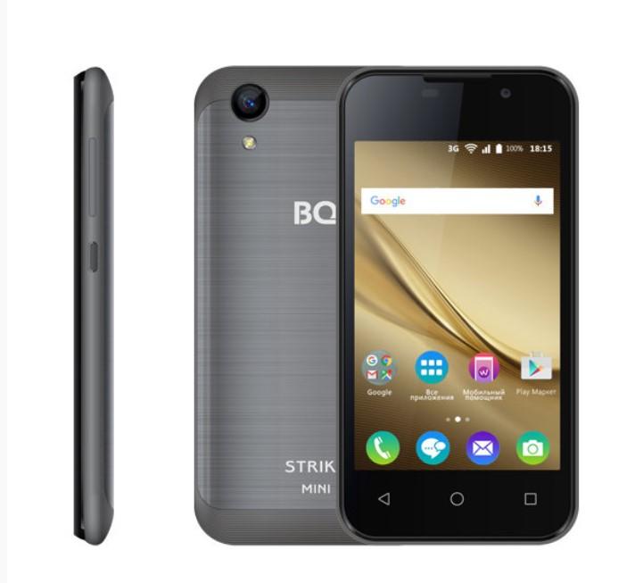 Смартфон BQ 4072 Strike Mini 1/8GB dark grey bq 5211 strike black смартфон