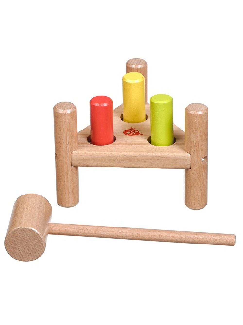 Фото - Развивающая игрушка Мир деревянных игрушек Забивалка треугольник бежевый мир деревянных игрушек развивающая игрушка стучалка шарик и гвоздики