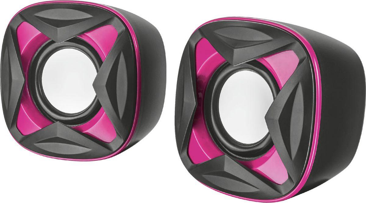 Компьютерная акустическая система Trust Xilo, черный, розовый