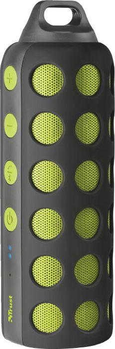 Портативная акустическая система Trust Ambus BT, черный, зеленый беспроводной bluetooth динамик громкой связи автомобильный комплект спикер солнцезащитный козырек клип