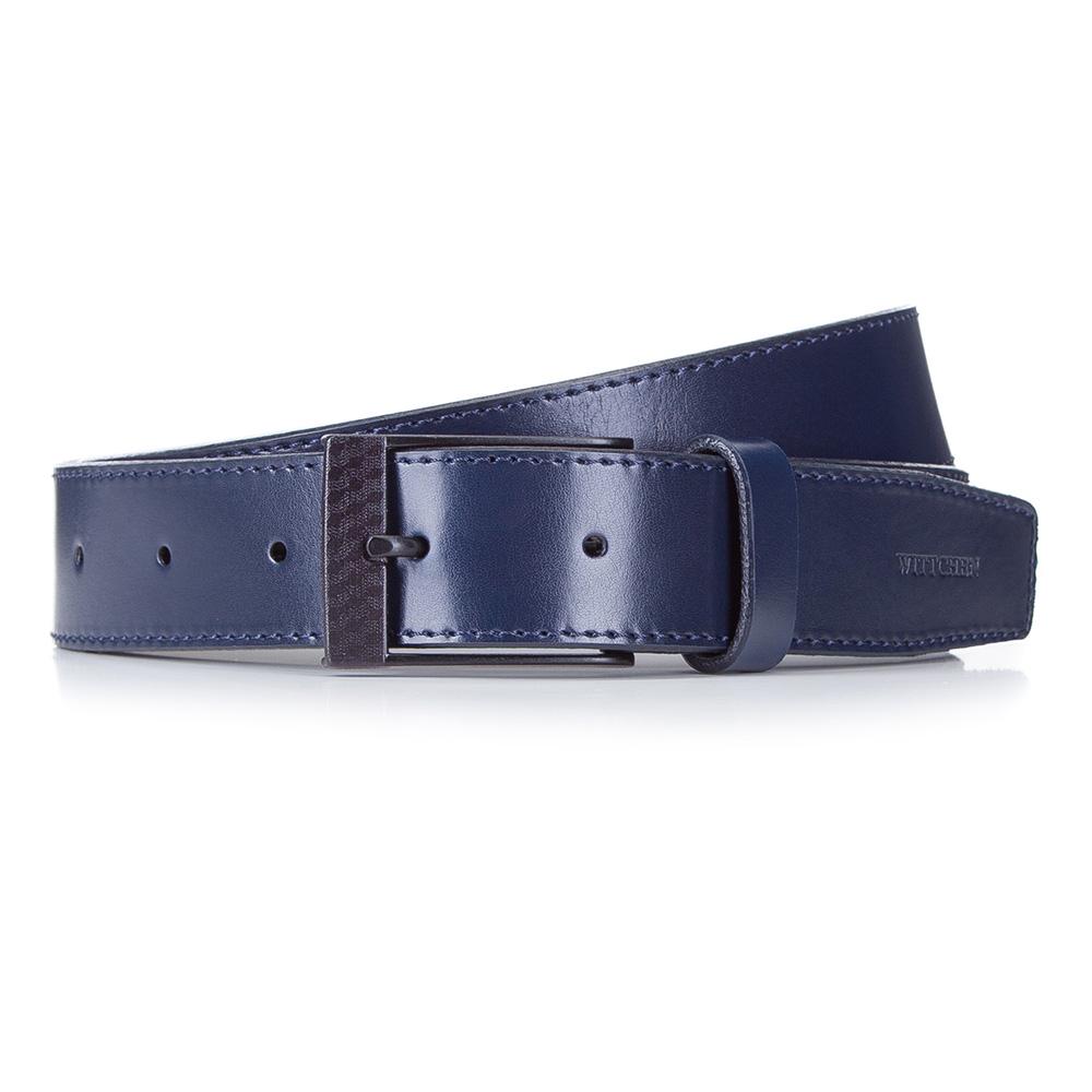 Ремень Wittchen, темно-синий 110 размер87-8M-324-7-11Ремень мужскойХарактеристики продукта:артикул товара: 87-8M-324-1ширина (см): 3,5материал: Натуральная итальянская кожа