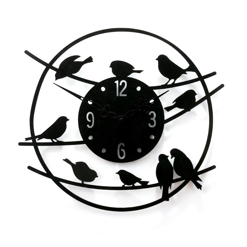 """Настенные часы Вега М1-3""""Птицы, Лофт"""" 450 мм"""