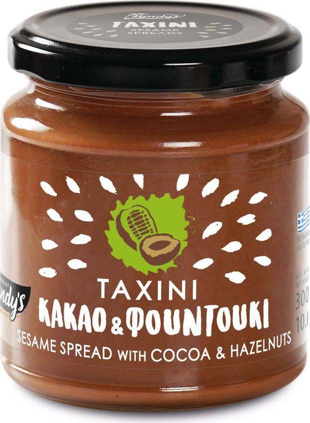 Кунжутная паста Кandy's Тахини, с какао и фундуком, 300 г бады цинк селен