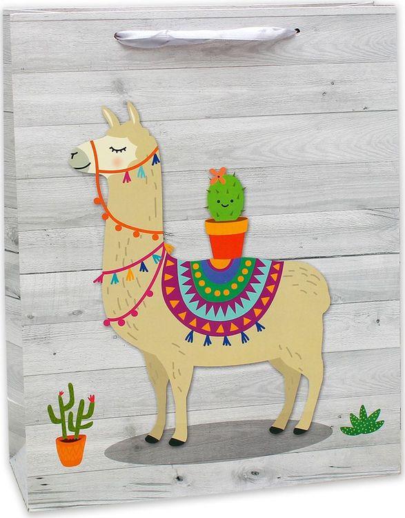Подарочная упаковка Dream Cards Лама с кактусом, 26,4 х 32,7 13,6 см