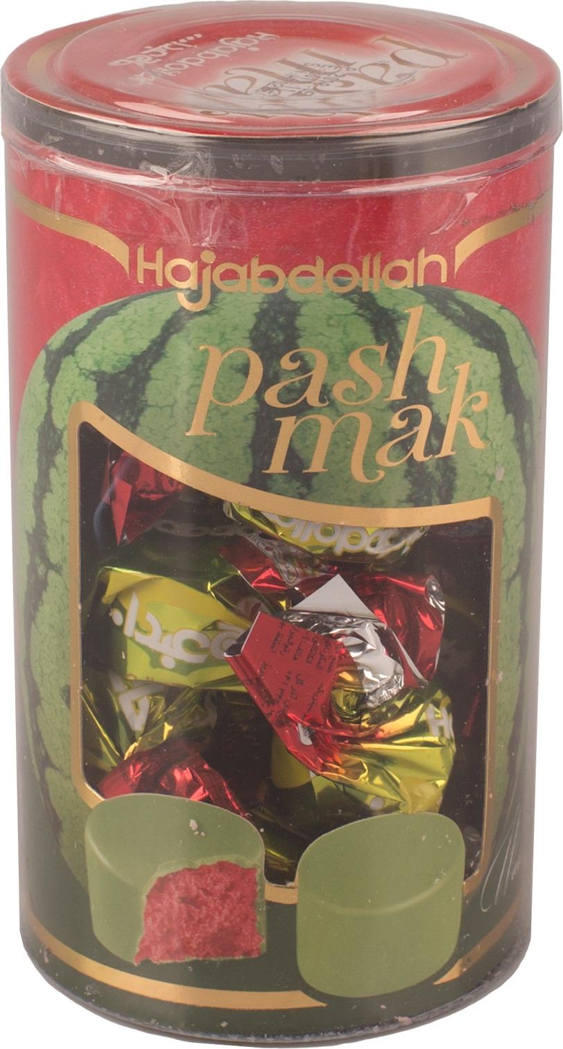 Конфеты из пашмалы Hajabdollah со вкусом арбуза во фруктовой глазури, 200 г коммунарка цитрон топ глазированная помадка со вкусом лимона конфеты 200 г