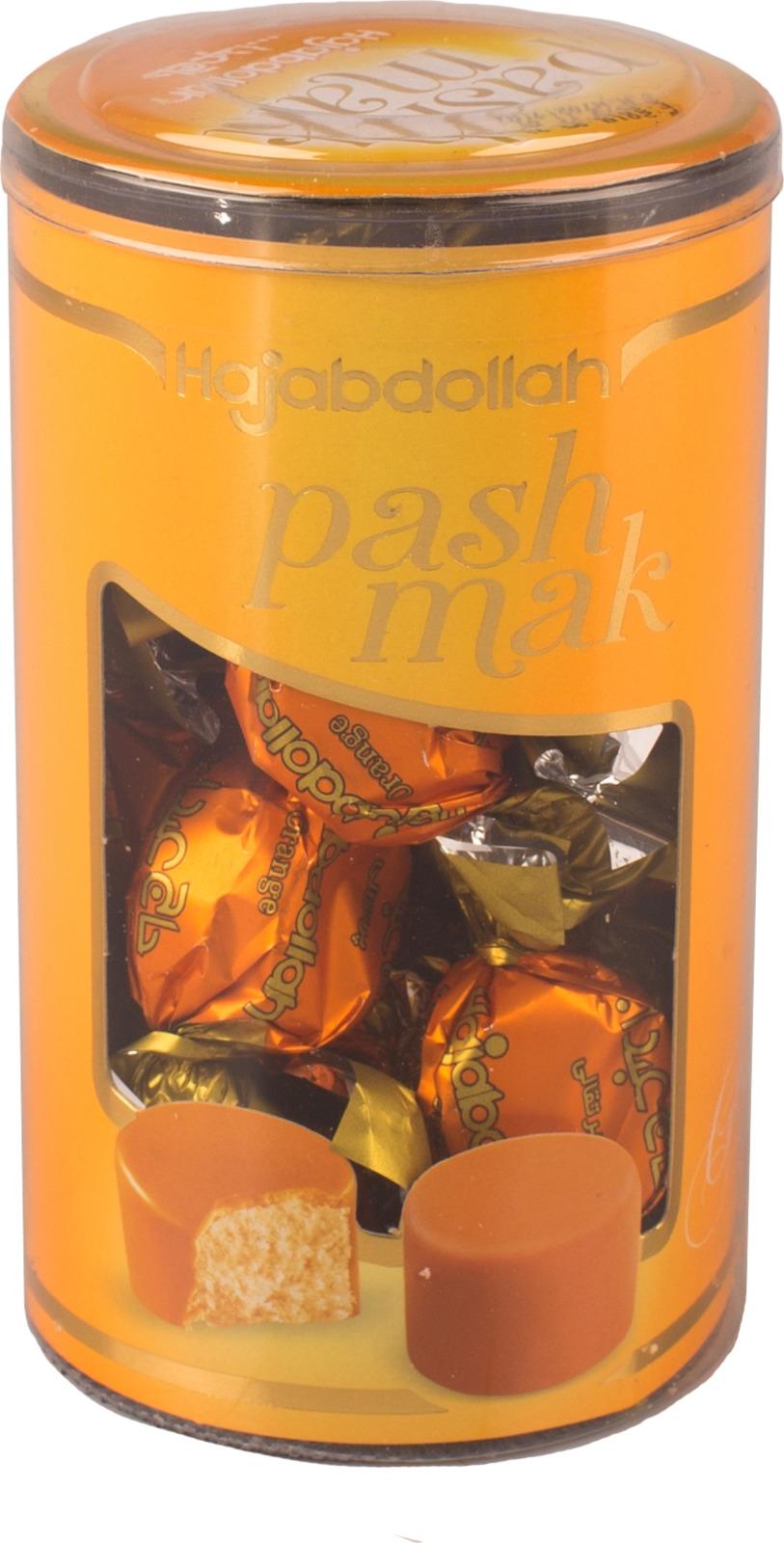 Конфеты из пашмалы Hajabdollah со вкусом апельсина во фруктовой глазури, 200 г коммунарка цитрон топ глазированная помадка со вкусом лимона конфеты 200 г