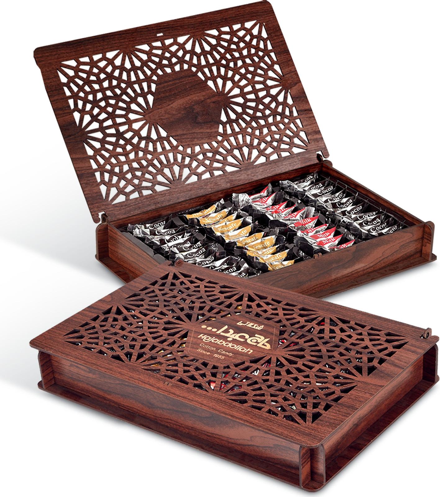 Купить Конфеты из пашмалы Hajabdollah ассорти со вкусом горького шоколада, ванили и капучино в шоколадной глазури и вкусом корицы в белой глазури, 500 г на XWAP.SU