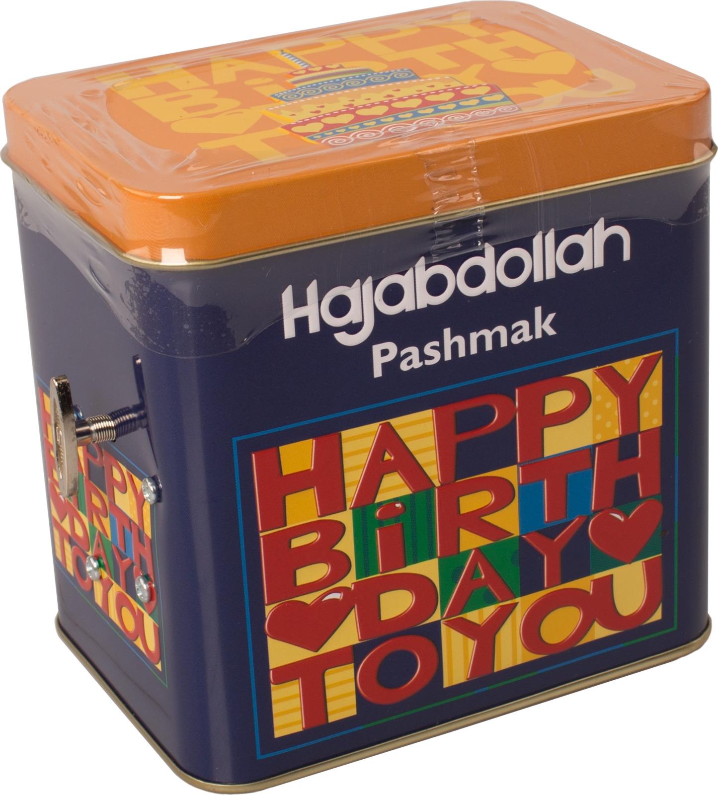 Конфеты из пашмалы Hajabdollah С Днем Рождения ассорти со вкусом апельсина, дыни и клубники во фруктовой глазури, 200 г коммунарка цитрон топ глазированная помадка со вкусом лимона конфеты 200 г