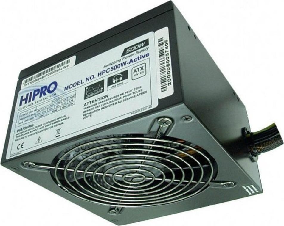 Блок питания Hipro ATX 500W, HPC500W-ACTIVE