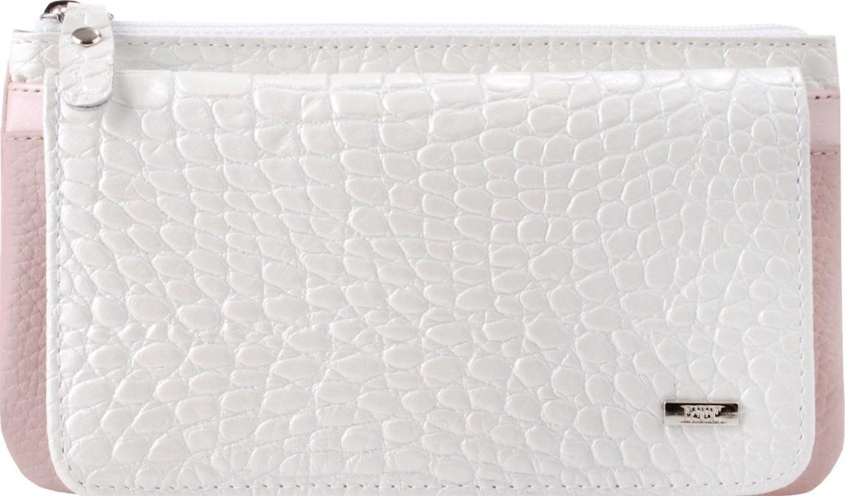 Кошелек женский Esse Инканто, GINC00-00ML00-FI303P-K100, белый портмоне женское esse инканто цвет сливовый ginc00 00ml00 d8507o k100