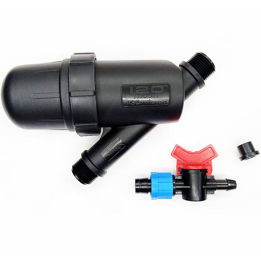 Фильтр для полива Поливчик Набор фильтр и кран для капельной ленты