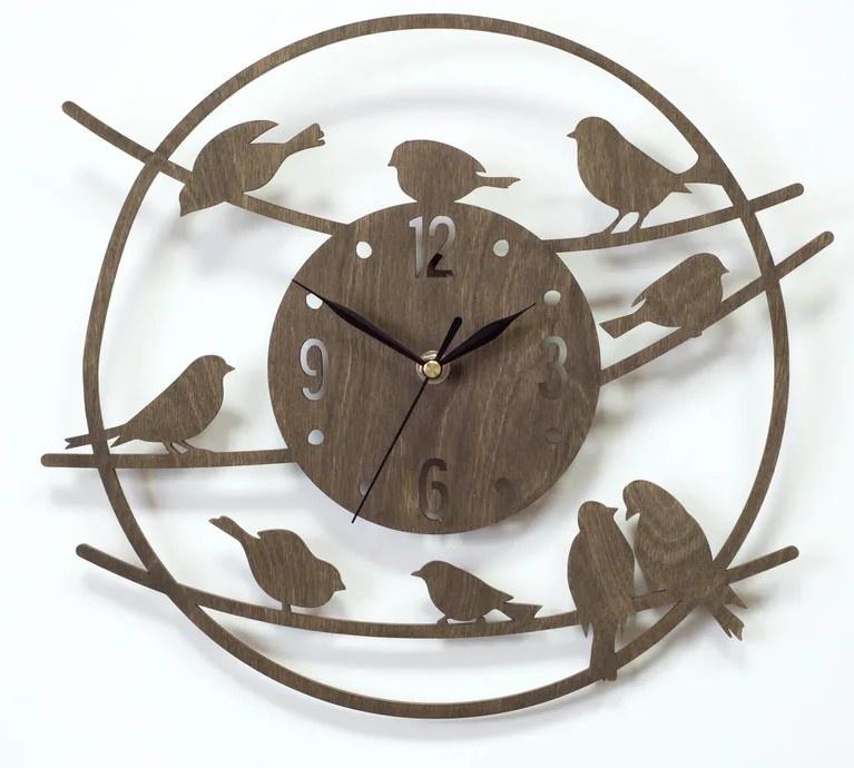 Настенные часы Вега Часы настенные из фанеры Ф1-4