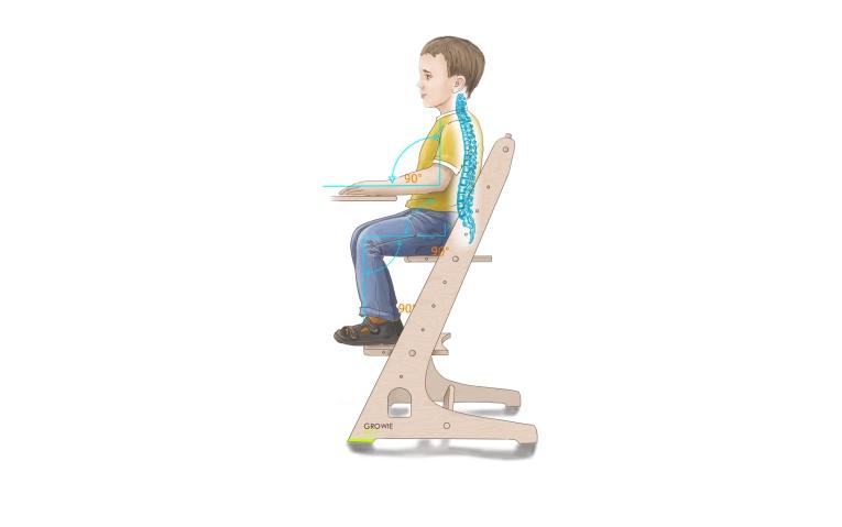 Детский стул Gravitonus Growie, бежевый