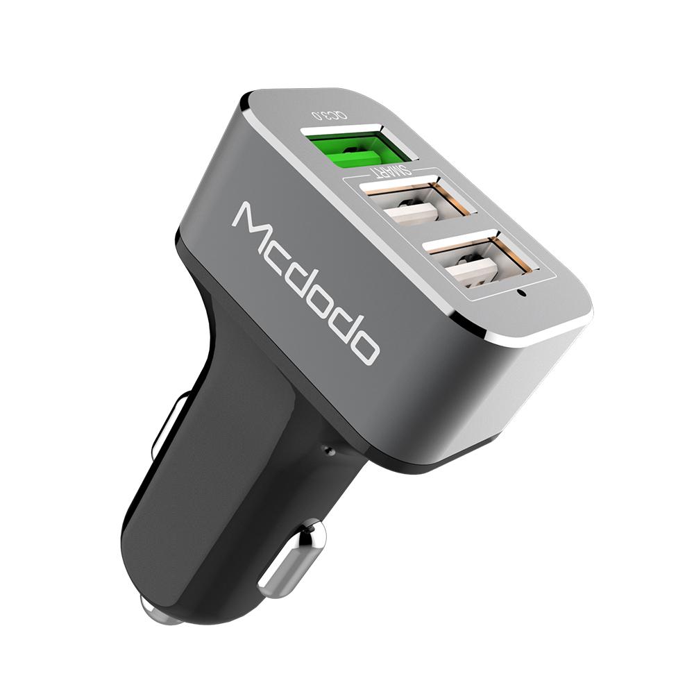 Автомобильное зарядное устройство (в прикуриватель) Mcdodo CC-2241, серый автомобильное зарядное устройство aukey cc t7 черный