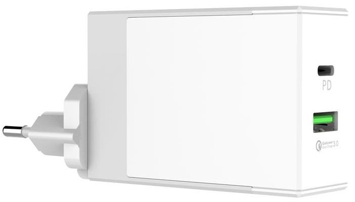 Зарядное устройство Tronsmart W2DT, белый tronsmart usb type c male to usb a 3 0 female adapter gold