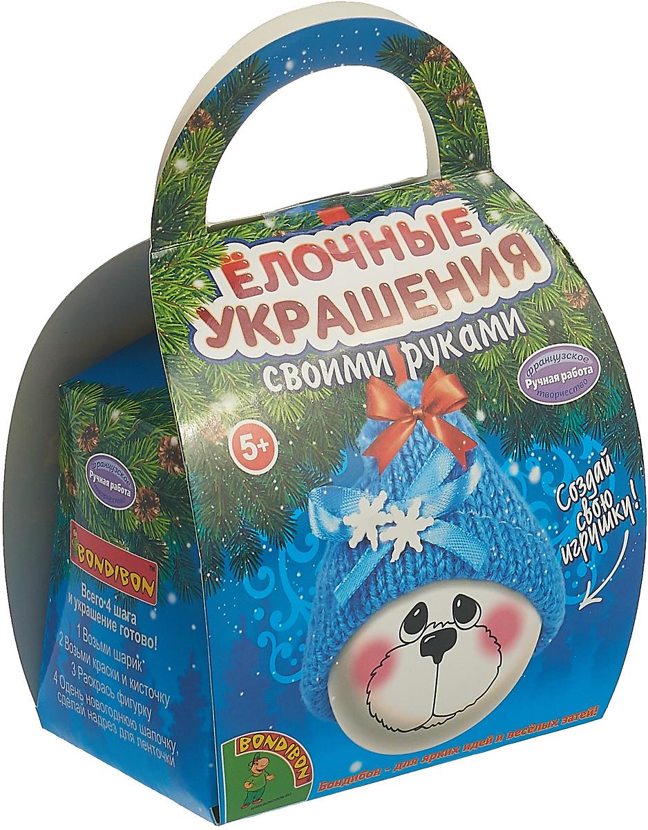 "Набор для росписи Bondibon ""Шар-подарок. Мишка"""