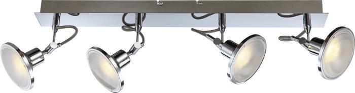 Настенно-потолочный светильник Globo New 56953-4, серый металлик спот модерн 6 5256 4 cr wh g9 led