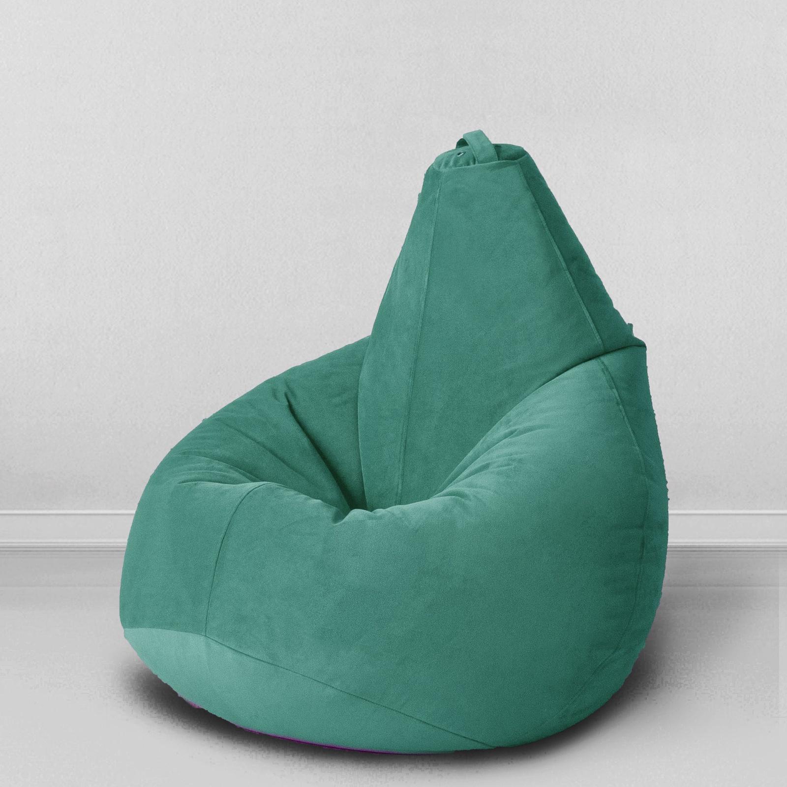 """Кресло-мешок MyPuff груша XXL, темно-зеленыйb_537Это пуф среднего, универсального XXL размера: подойдет и взрослому, и ребенку. Такие пуфы очень удобны, и в то же время, они не громоздкие. Сиденье и спинка достаточно высокие, чтобы взрослый человек занял комфортное положение.Материал внешнего чехла: мебельный хлопок (30% хлопок, 70% полиэстер).Внутренний мешок: на молнии для самостоятельного пополнения мешка гранулами.Система M-LOCK: защита от открытия детьми.Важно! Наполнитель: мелкая гранула пенополистерола диаметром 1-3 мм. Такой наполнитель очень мягкий, не чувствуется при использовании; кресло не """"скрипит"""" и практически не усаживается. А это значит, что Вам очень нескоро понадобится досыпать такое кресло мешок, или вообще не понадобится.Уход: внешний чехол можно стирать при температуре 30 градусов в режиме деликатной стирки.* Цвета изделий на сайте могут незначительно отличаться от реальных из-за особенностей цветопередачи монитора (это зависит от настроек Вашего устройства)."""