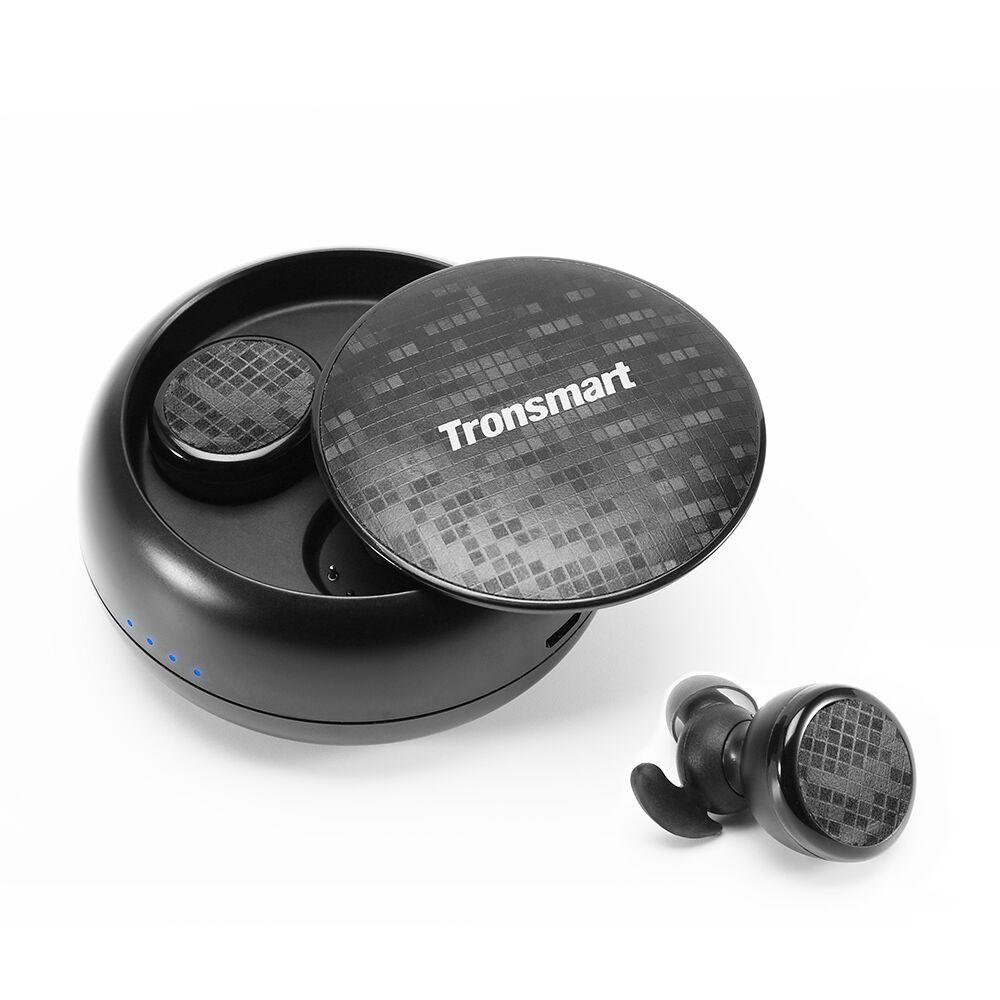 Наушники Tronsmart Spunky, черный tws 5 0 bluetooth earphone touch control stereo music in ear type ipx6 waterproof wireless earbuds with charging box yz209