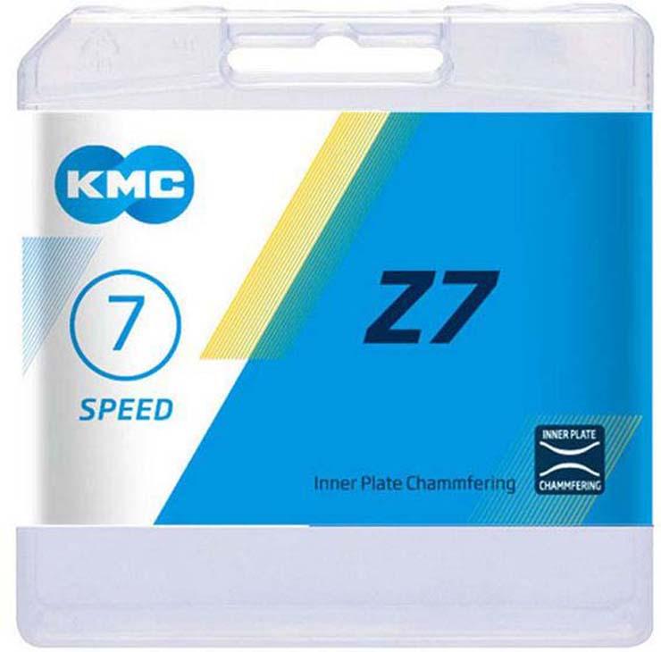 Цепь велосипедная КМС Z7 Grey/Brown, 6/7 (18/21) скоростей, 114 звеньев, 1/2x3/32, 7,3 мм, серо-коричневый цепь велосипедная bbb powerline цвет серый никель 9 скоростей 114 звеньев