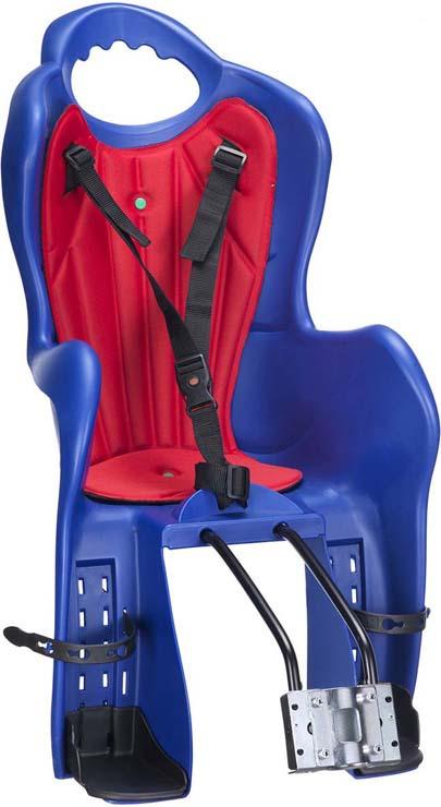 Велокресло детское HTP Design Elibas T, крепление на раму, подседельную трубу, синий детское автомобильное кресло colibri синее вес до 13 кг