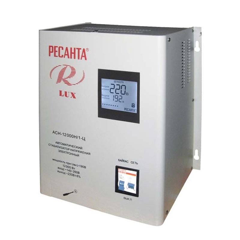 Стабилизатор напряжения РЕСАНТА АСН-12000/Н1-Ц стабилизатор ресанта асн 1000 1 ц