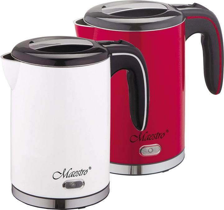 Фото - Электрический чайник Maestro, MR-030, белый, красный электрический чайник maestro mr 029new серебристый