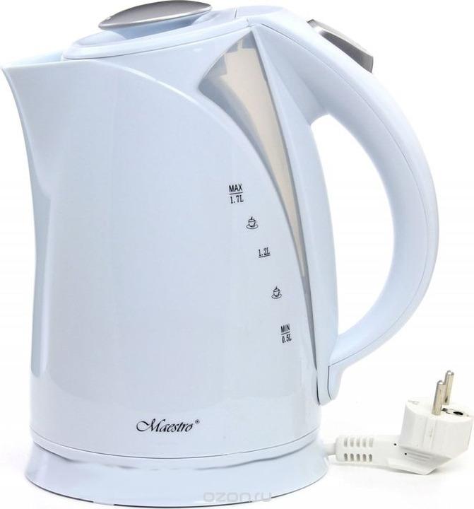 Фото - Электрический чайник Maestro, MR-054, белый электрический чайник maestro mr 029new серебристый